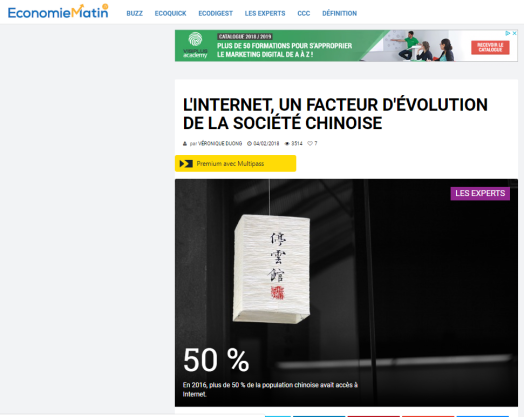 economie-matin-veronique-duong-interview-tribune-seo-baidu-marketing-chine