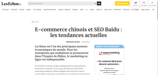 les-echos-veronique-duong-seo-baidu-marketing-chine-tribune-2018